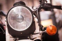 Классическая фара мотоцикла стоковая фотография rf