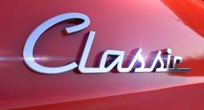 Классическая эмблема автомобиля хрома стоковая фотография