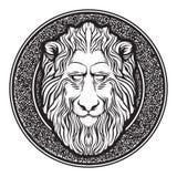 Классическая эмблема льва Стоковое Изображение