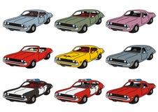 Классические американские автомобили Стоковые Изображения