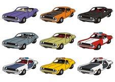Классические американские автомобили Стоковые Изображения RF