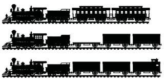 Классические американские поезда пара Стоковые Изображения RF