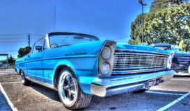 Классические американские 1960s голубой Форд Galaxie 500 Стоковые Фото