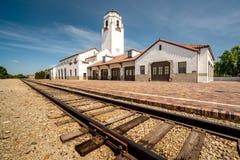 Классические депо поезда и следы поезда Стоковые Изображения RF