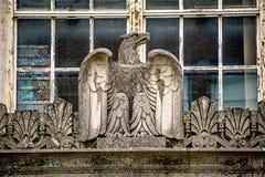 Классические исторические архитектурноакустические детали на американском здании Стоковое Фото
