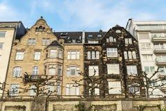Классические дома в Дюссельдорфе, Германия Стоковое Изображение