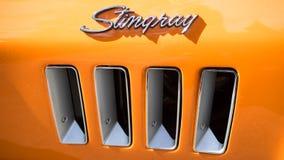 Классические сбросы стороны автомобиля хвостоколового Chevy Стоковые Фото