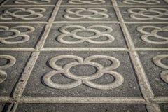 Классические тротуары плитки города Барселоны Стоковая Фотография RF