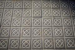 Классические тротуары плитки города Барселоны Стоковое фото RF