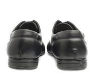 Классические черные кожаные изолированные ботинки Стоковое фото RF