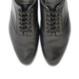 Классические черные кожаные изолированные ботинки Стоковая Фотография RF
