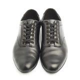 Классические черные кожаные изолированные ботинки Стоковое Изображение RF