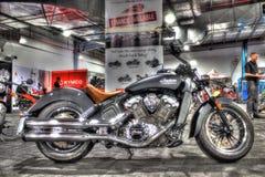 Классический американец построил индийский мотоцикл разведчика Стоковые Фото