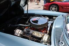 Классический американский двигатель автомобиля мышцы Стоковое фото RF