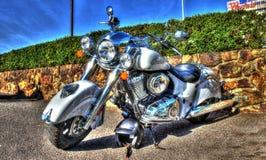 Классический американский индийский мотоцикл стоковая фотография