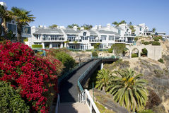 Классический американский дом в Dana Point - округ Орандж, Калифорнии Стоковое Изображение RF