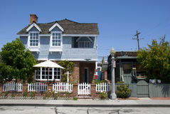 Классический американский дом на острове бальбоа - округ Орандж, Калифорнии Стоковая Фотография RF
