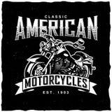 Классический американский плакат мотоциклов Стоковое Изображение RF