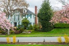 Классический американский роскошный дом Стоковое Фото