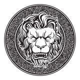 Классический дверной звонок льва Стоковые Фото