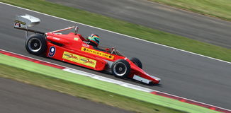 Классический гоночный автомобиль формулы 3 Стоковое Изображение