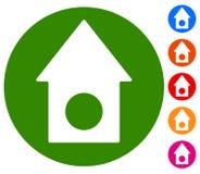 Классический значок дома с предпосылкой 6 цветов Недвижимость, рента, a иллюстрация штока