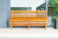 Классический интерьер деревянной скамьи Стоковая Фотография RF