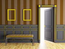 Классический интерьер с креслом иллюстрация вектора