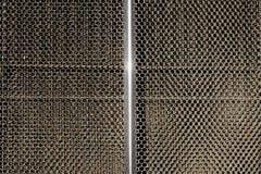 Классический конец гриля радиатора автомобиля вверх Стоковое Изображение