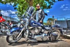 Классический мотоцикл Harley Davidson американца Стоковые Изображения