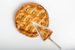 Классический домодельный яблочный пирог, grandmother& x27; рецепт s Стоковая Фотография RF
