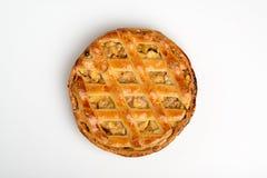Классический домодельный яблочный пирог, grandmother& x27; рецепт s стоковые фотографии rf