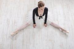 Классический портрет артиста балета, взгляд сверху Стоковые Изображения