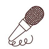 Классический стерео значок micophone иллюстрация штока
