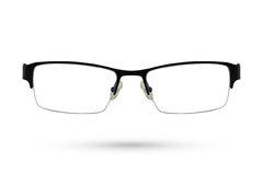 Классический стиль eyeglasses моды изолированный на белой предпосылке Стоковое фото RF