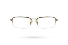 Классический стиль eyeglasses на белой предпосылке Стоковые Изображения RF