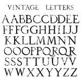 Классический текстурированный шрифт в stile ренессанса Стоковая Фотография