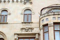 Классический фасад здания с окнами Стоковое фото RF