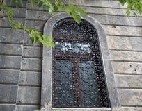 Классический фасад с окном решетки Стоковые Фото