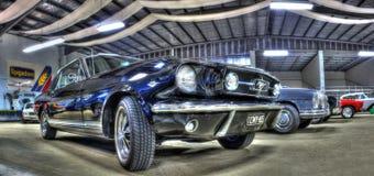 Классический черный Ford Мustang Стоковая Фотография
