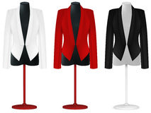 Классический шаблон куртки. иллюстрация штока