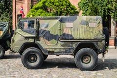 Классический шведский воинский автомобиль Volvo Стоковые Фото