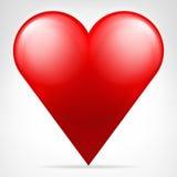 Классическим красным вектор сердца изолированный значком Стоковое фото RF