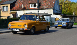 2 классических автомобили, Skoda и Форда Taunus Стоковое Изображение