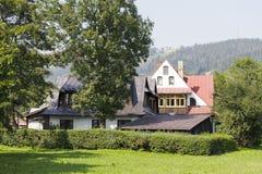 2 классических дома в Zakopane Стоковые Фотографии RF