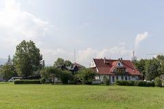2 классических дома в Zakopane Стоковая Фотография