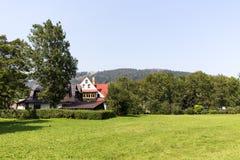 2 классических дома в Zakopane Стоковое Фото