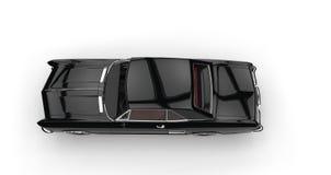 Классическое американское взгляд сверху автомобиля Стоковое Фото