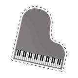 Классическое изображение значка рояля иллюстрация вектора