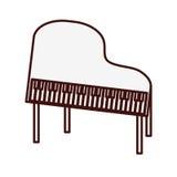 Классическое изображение значка рояля иллюстрация штока